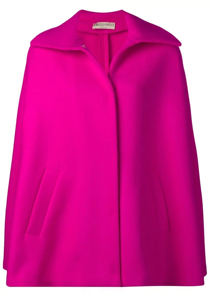 Emilio Pucci Double Face Wool Cape