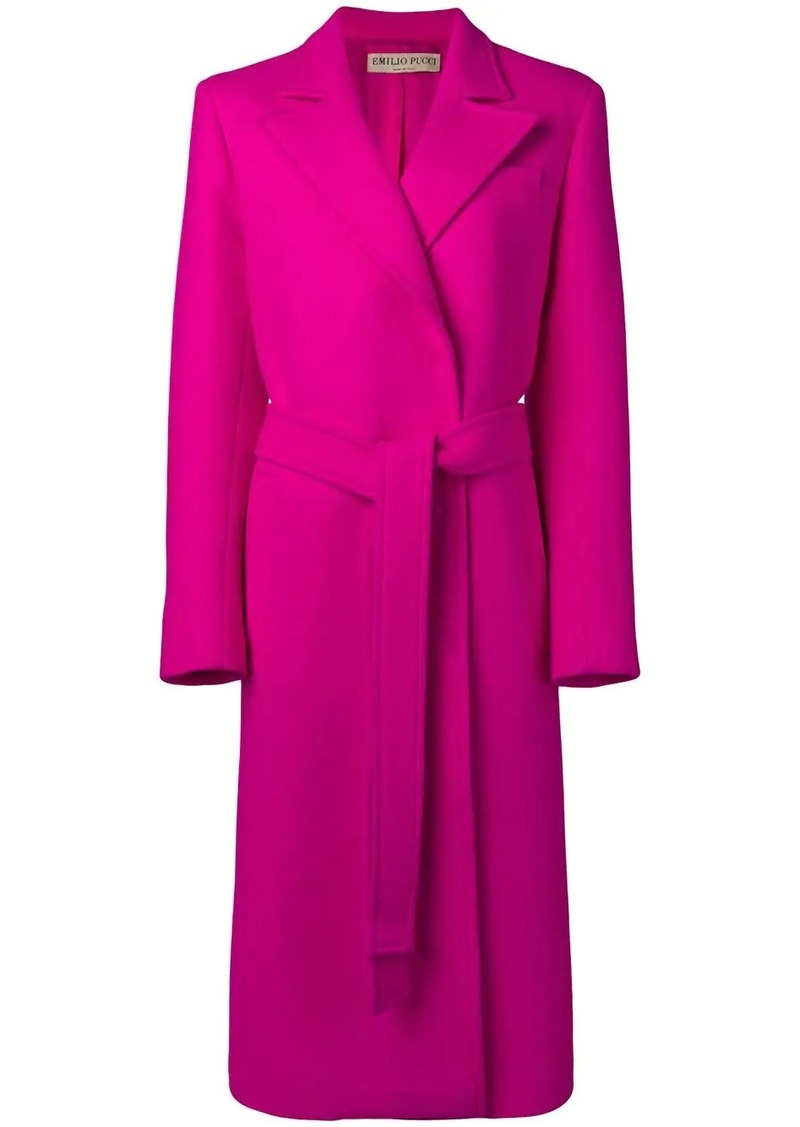 Emilio Pucci Double Face Wool Long Coat