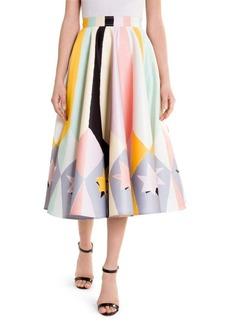 Emilio Pucci Duchess Satin Stars Circle Skirt