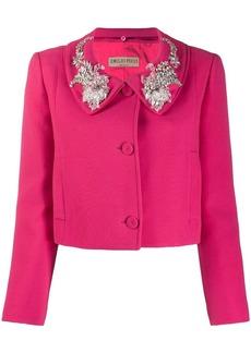 Emilio Pucci embellished collar cropped jacket