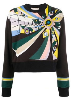 Emilio Pucci embroidered abstract-print sweatshirt
