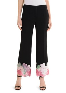 Emilio Pucci Embroidered Hem Pants