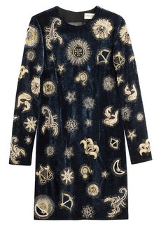 Emilio Pucci Embroidered Velvet Dress