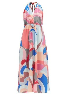 Emilio Pucci Abstract-print halterneck georgette dress