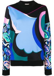 Emilio Pucci abstract print sweatshirt - Blue