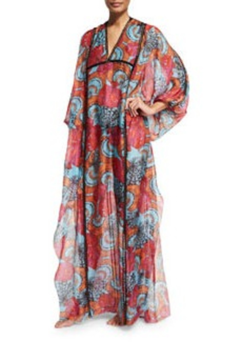 Emilio Pucci Conchiglie Printed Long Caftan Coverup