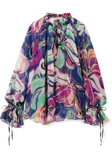 Emilio Pucci Aruba printed silk-georgette blouse