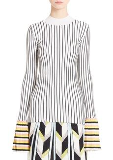 Emilio Pucci Bell Sleeve Rib Knit Sweater
