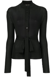 Emilio Pucci belted ribbed-knit cardigan - Black
