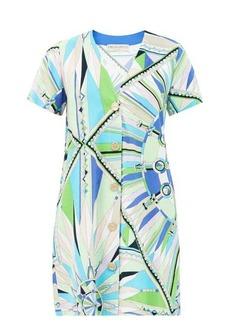 Emilio Pucci Bes-print cotton-blend terry mini dress