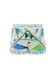 Emilio Pucci Bes-print cotton-canvas shorts