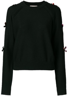 Emilio Pucci bow-embellished sweater - Black