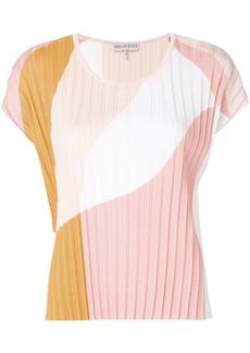 Emilio Pucci colour-block plissé blouse - Multicolour