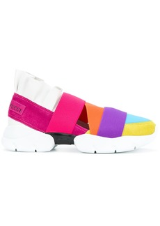 Emilio Pucci colour block strap sneakers - Multicolour