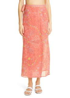 Emilio Pucci Conch Print Cotton Cover-Up Wrap Skirt