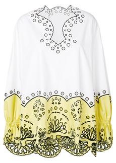 Emilio Pucci crocheted design blouse - White