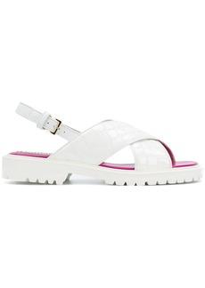Emilio Pucci crossover sandals - White