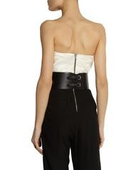 Emilio Pucci Embellished leather waist belt
