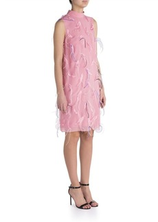Emilio Pucci Feather Embroidered Shift Dress