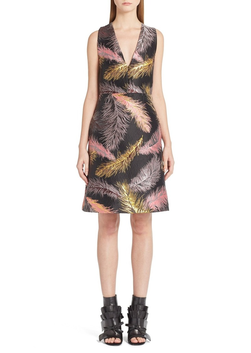 Emilio Pucci Feather Jacquard Dress