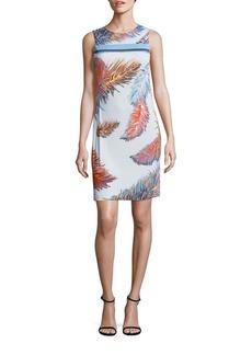 Emilio Pucci Feather Print Jersey Dress