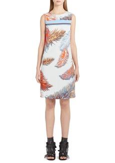 Emilio Pucci Feather Print Shift Dress