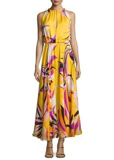 Emilio Pucci Fiore Maya Silk Halter Maxi Dress