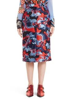 Emilio Pucci Floral Fil Coupé Skirt