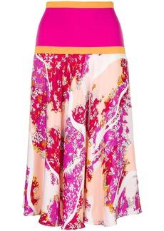 Emilio Pucci floral midi skirt - Multicolour