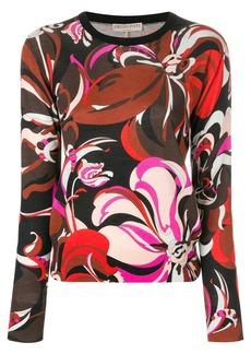 Emilio Pucci floral sweater - Black