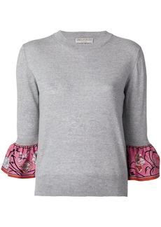 Emilio Pucci frill cuff jumper - Grey