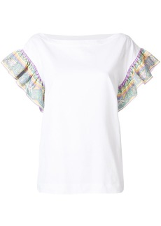 Emilio Pucci frilled-sleeve top - White