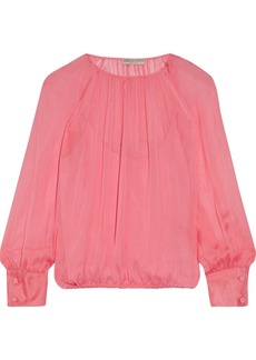 Emilio Pucci Gathered silk blouse