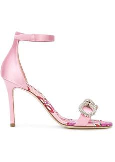 Emilio Pucci gemstone bow front sandals - Pink & Purple
