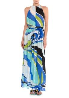 Emilio Pucci Halter Jersey Maxi Dress