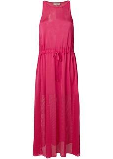 Emilio Pucci halterneck mesh maxi dress - Pink & Purple