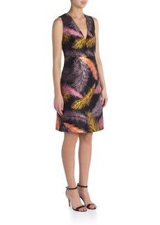 Emilio Pucci Jacquard Feather Printed Dress