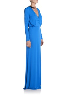 Emilio Pucci Jersey V-Neck Gown