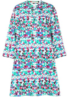 Emilio Pucci laced printed kaftan dress - Blue