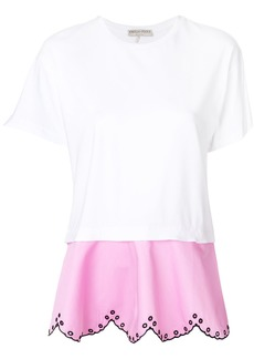 Emilio Pucci layered open embroidery T-shirt - White