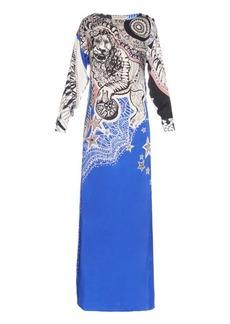 Emilio Pucci Leo-print silk-charmeuse gown