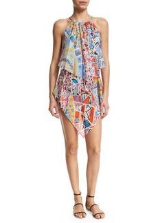 Emilio Pucci Light Mosaico Halter-Neck Dress