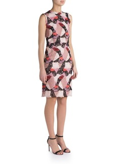 Emilio Pucci Macrame Lips Patchwork Dress