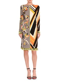 Emilio Pucci Marilyn Belted Retro Floral-Print Dress