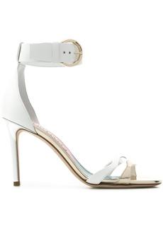 Emilio Pucci mixed-metal strappy sandals - White