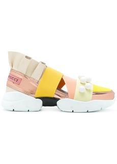 Emilio Pucci multi-strap sneakers - Yellow & Orange