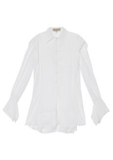 Emilio Pucci Neck-tie silk-georgette blouse