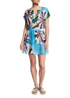 Emilio Pucci Parasol Hammered Silk Coverup Dress