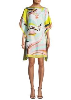 Emilio Pucci Parrot-Printed Silk Coverup Caftan