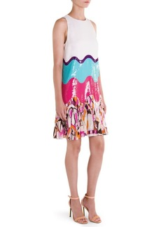 Emilio Pucci Pleated Colorblock Dress